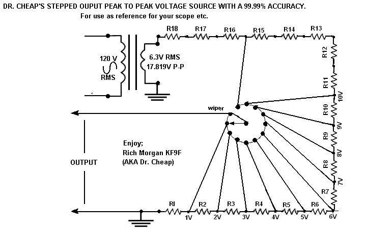 Peak to peak voltage source schematic