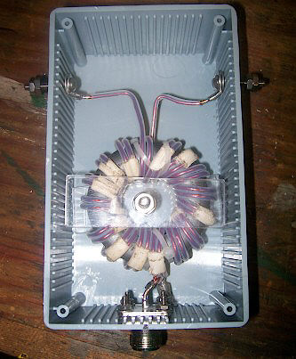 Completed balun without cover