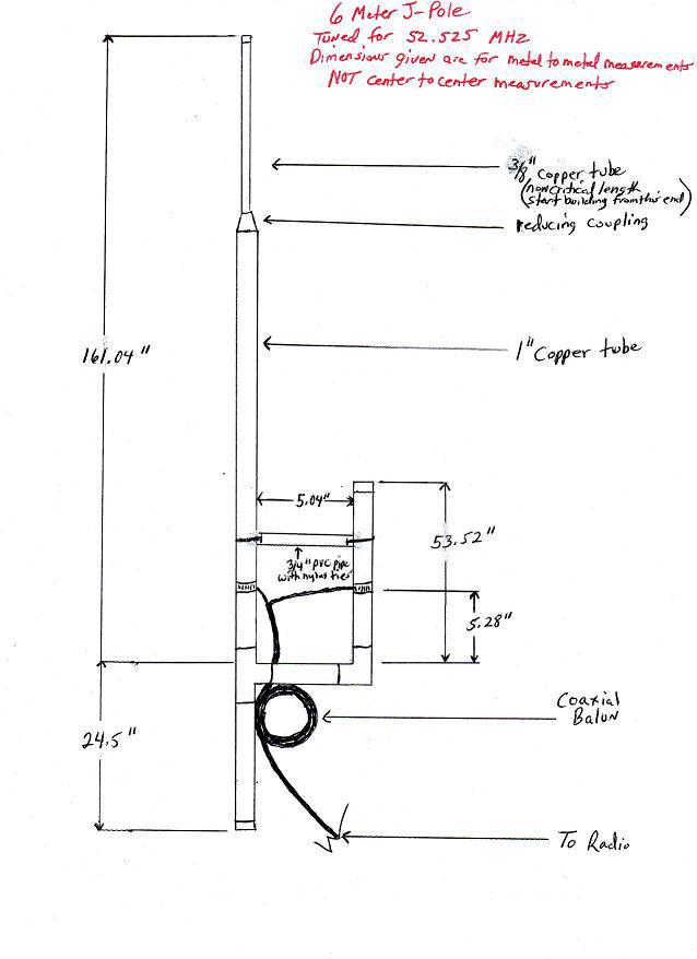 6 Meter J-pole Vertical by KK4BCV