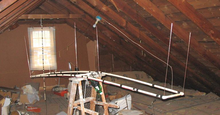 Bobtail beam in attic