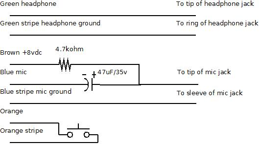 computer pc headset microphone and headphone adapter by w6jmf circuit diagram
